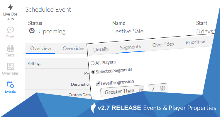 ChilliConnect v2.7 - Scheduled Events and Player Properties